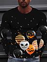 Ανδρικά Γιούνισεξ Κοντομάνικα Μπλουζάκι Πουκάμισο 3D εκτύπωση Γραφικά Σχέδια Μπαλόνια Στάμπα Μακρυμάνικο Απόκριες Άριστος Καθημερινό Υψηλής Ποιότητας Μεγάλο και ψηλό Κίτρινο Λευκό Μαύρο