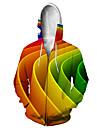 Men\'s Zip Up Hoodie Sweatshirt Animal 3D Hooded Casual Daily 3D Print Casual Hoodies Sweatshirts  Long Sleeve Loose Rainbow