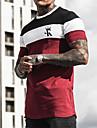 男性用 Tシャツ シャツ グラフィック ポーカー プラスサイズ 半袖 カジュアル トップの ベーシック デザイナー スリムフィット 大きくて背が高い ブルー ルビーレッド ピンク