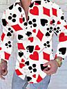 Men\'s Shirt Tartan Patchwork Print Long Sleeve Going out Slim Tops Designer Punk & Gothic Standing Collar Red