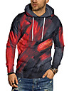 Men\'s Unisex Pullover Hoodie Sweatshirt Graphic Prints Graffiti Print Hooded Daily Sports 3D Print 3D Print Casual Hoodies Sweatshirts  Long Sleeve Red