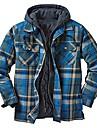 رجالي جاكيت مناسب للبس اليومي الخريف الشتاء عادية معطف عادي الدفء رياضي جاكتس كم طويل هندسي منقش أزرق أصفر بني فاتح