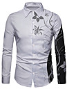 Men\'s Shirt 3D Print Floral 3D Print Button-Down Long Sleeve Street Tops Casual Fashion Breathable Comfortable White / Sports
