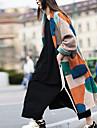 Γυναικεία Παλτό Δρόμος Καθημερινά Εξόδου Φθινόπωρο Χειμώνας Μακρύ Παλτό Κανονικό Διατηρείτε Ζεστό Αναπνέει Καθημερινό Σακάκια Μακρυμάνικο Συνδυασμός Χρωμάτων Στάμπα Πορτοκαλί