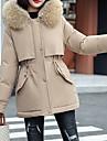Γυναικεία Παρκάς Causal Καθημερινά Φθινόπωρο Χειμώνας Κανονικό Παλτό Κανονικό Αντιανεμικό Διατηρείτε Ζεστό Καθημερινό Σακάκια Μακρυμάνικο Συμπαγές Χρώμα Με Επένδυση Blană Curată