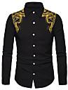 Men\'s Shirt 3D Print Totem 3D Print Button-Down Long Sleeve Street Tops Casual Fashion Breathable Comfortable Black / Sports