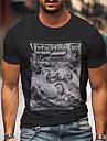 Pánské Unisex Trička Tričko Košile Horká ražba Grafické tisky Auto Tisk Krátký rukáv Ležérní Topy Bavlna Základní Designové Velký a vysoký Černá
