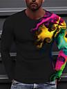 Pánské Unisex Trička Tričko Košile 3D tisk Grafické tisky Vykreslování Tisk Dlouhý rukáv Denní Topy Na běžné nošení Designové Velký a vysoký Černá
