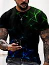 Men\'s Unisex Tee T shirt Shirt 3D Print Graphic Prints Streamer Print Short Sleeve Daily Tops Casual Designer Big and Tall Black