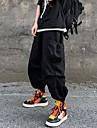 Hombre Ocasional / deportivo Ropa de calle Comodidad Al Aire Libre Persona que practica jogging Pantalones Pantalones tipo cargo Corte Ancho Casual Diario Pantalones Color solido Longitud total
