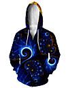 Men\'s Zip Up Hoodie Sweatshirt Animal 3D Hooded Casual Daily 3D Print Casual Hoodies Sweatshirts  Long Sleeve Loose Blue