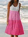 Γυναικεία Φόρεμα ριχτό από τη μέση και κάτω Φόρεμα μέχρι το γόνατο Κίτρινο Φούξια Πράσινο του τριφυλλιού Πορτοκαλί Λευκό Σκούρο γκρι Ρουμπίνι Μπλε Απαλό Αμάνικο Φλοράλ Πεταλούδα Συνδυασμός Χρωμάτων