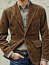 ανδρικό vintage κοτλέ μπουφάν blazer καθημερινή πτώση άνοιξη κανονικό παλτό κανονική εφαρμογή αναπνεύσιμο casual σακάκι μακρυμάνικο απλό συνονθύλευμα καφέ