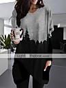 Női Pólóruha Rövid mini ruha Medence Szürke Hosszú ujj Nyomtatott Nyomtatott Ősz Tavasz V-alakú Alkalmi Bő 2021 S M L XL XXL 3XL / Extra méret / Mini