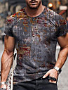 Pánské Unisex Trička Tričko Košile 3D tisk Abstraktní Grafické tisky Tisk Krátký rukáv Denní Topy Na běžné nošení Designové Velký a vysoký Šedá