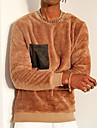 בגדי ריקוד גברים יוניסקס טרנינג צבע אחיד יומי מְעוּרפָּל קפוצ\'ונים חולצות טריקו שרוול ארוך חאקי
