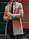 בגדי ריקוד גברים מעיל יומי סתיו חורף ארוך מעיל רגיל שמור על חום הגוף ספורטיבי Jackets שרוול ארוך קשירה וצביעה מרופד צהוב אודם