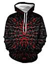 Herre Pullover-hættetrøje Grafisk Flamme Trykt mønster Hætte Afslappet Daglig 3D-udskrivning Afslappet Gade Hættetrøjer Sweatshirts Langærmet Gul Orange Sort