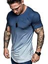 hiriri koszule męskie hipster hip hop długi t-shirt z okrągłym wycięciem pod szyją tie dye tunika topy slim fit bluzka z krótkim rękawem granatowy