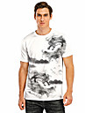 Men\'s Tee T shirt 3D Print Dragon Graphic Graphic Prints 3D Print Short Sleeve Casual Regular Fit Tops Casual Fashion Designer Cool Gray White