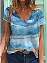 příležitostné potištěné košile s krátkým rukávem& topy