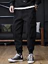 Hombre Ocasional / deportivo Ropa de calle Comodidad Al Aire Libre Persona que practica jogging Pantalones Pantalones tipo cargo Casual Diario Pantalones Color solido Longitud total Correa Multiples