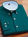 Hombre Camisa Otras impresiones A Rayas Color solido camisas con cuello Manga Larga Casual Ajuste regular Tops 100% Algodon De Diseno Azul Piscina Amarillo Rosa
