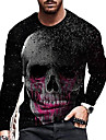 בגדי ריקוד גברים יוניסקס טי שירטס חולצה קצרה חולצה הדפסת תלת מימד הדפסים גרפיים גוגולות דפוס שרוול ארוך יומי צמרות יום יומי מעצב גדול וגבוה שחור