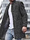 בגדי ריקוד גברים בלשית יומי סתיו חורף ארוך מעיל רזה נושם יום יומי Jackets שרוול ארוך פסים זברה טלאים פס