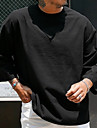 Bărbați Unisex Tricouri Tricou non-imprimare Culoare solidă Manșon Lung Zilnic Fit regulat Topuri Epocă Șic Stradă Negru Bleumarin