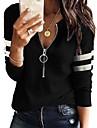 Γυναικεία Φούτερ με φερμουάρ και φερμουάρ Κουκούλα με φερμουάρ Quarter Σκέτο Ριγέ Φερμουάρ Αθλήματα & Ύπαιθρος Causal Καθημερινά Γραφείο Βασικό Φούτερ Φούτερ Θαλασσί Λευκό Μαύρο / Αργίες / Εξόδου