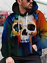 Homme Unisexe Sweat-shirt a capuche Imprimes Photos Cranes Imprimer Capuche du quotidien Des sports 3D effet Motifs 3D Decontractee Pulls Capuche Pulls molletonnes Manches Longues Bleu