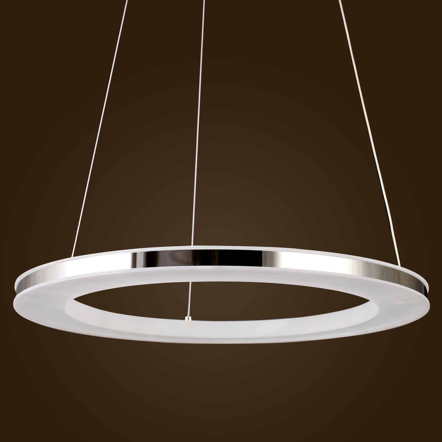 UK Modern LED Acrylic Pendant light Round Ring Chic Stainless ... for Diy Acrylic Lamp  18lpqdu