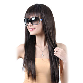 Synthetic Wig Straight Straight Wig Synthetic Hair 9 inch Women's Black