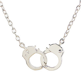 Men's Pendant Necklace Double Handcuff Partners in Crime Punk European Alloy Necklace Jewelry For Daily