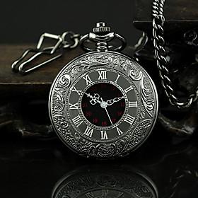 Men's Pocket Watch Quartz Vintage Casual Watch Analog Black / One Year / SSUO 377