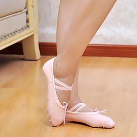 Men's Women's Ballet Shoes Flat Canvas Pink / White / Black / EU43