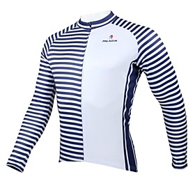 Men's Long Sleeve Winter Navy Bike Jersey Top Thermal / Warm Breathable Quick Dry Sports Clothing Apparel / Ultraviolet Resistant