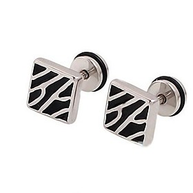 Men's Stud Earrings Stainless Steel Earrings Jewelry Silver For Wedding Party Daily Casual Sports