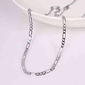 Men's Chain Necklace Unique Design Fashion Alloy Silver Necklace Jewelry For Wedding Party Gift Daily Casual Sports
