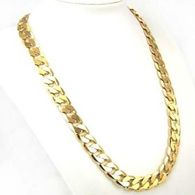 Men's Chain Necklace Cuban Link Twisted Baht Chain Personalized Classic Fashion Street chic Gold Plated Yellow Gold Gold Necklace Jewelry 1pc For Daily Casual