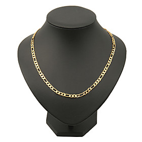 Men's Chain Necklace Figaro Box Chain Mariner Chain Classic Hip-Hop Dubai Copper Gold Plated Yellow Gold Golden Necklace Jewelry For Christmas Gifts Party Dail