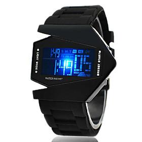 Men's Sport Watch Wrist Watch Digital Watch Digital Alarm Digital White Black Yellow / Silicone / One Year / Calendar / date / day / Chronograph / LED