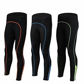 Men's Bike Pants / Trousers Tights Pants Breathable Quick Dry Sports Spandex Black / Green / Black / Blue / Black / Orange Road Bike Cycling Clothing Apparel R