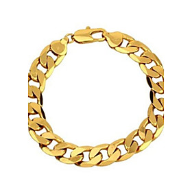 Men's Chain Bracelet Figaro Classic Dubai Copper Bracelet Jewelry Golden For Party Casual / Gold Plated / Gold Plated