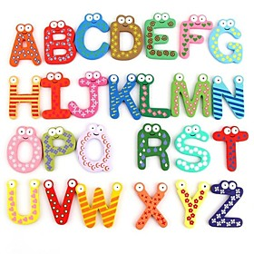 Colorful Cute 26 Letters Wooden Cartoon Fridge Magnet kid's Baby Educational Toy Age Group:Adults'; Net Dimensions:0.0000.0000.000; Shipping Weight:0.092; Package Dimensions:14.00012.0005.000; Net Weight:0.000; Special selected products:Clearance