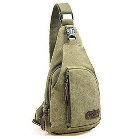 Men's Bags Canvas Sling Shoulder Bag for Daily Black / Army Green / Khaki / Brown