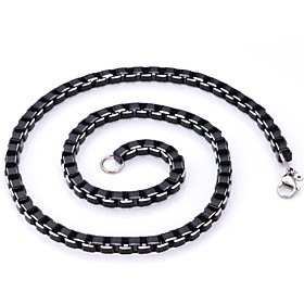 Men's Chain Necklace Stainless Steel Titanium Steel Black Necklace Jewelry For Christmas Gifts