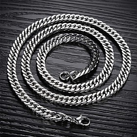 Men's Chain Necklace Foxtail chain Mariner Chain Titanium Steel A B C Necklace Jewelry For Christmas Gifts Wedding Party Daily Casual Sports