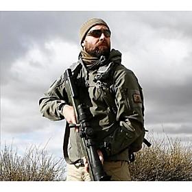 Men's Hunting Jacket Softshell Jacket Winter Outdoor Waterproof Windproof Breathable Warm Fleece Softshell Jacket Hoodie Winter Jacket Camping / Hiking Hunting